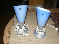 IKEA - Tischlampen - 2 Stück - B 9419 - Glas hellblau - silberner Fuß - max.40 W