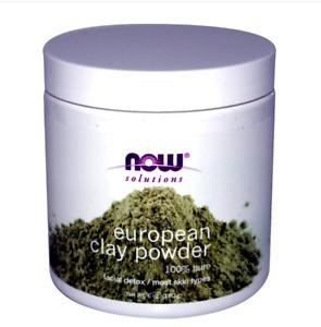 14 oz (397g ) now solutions european clay powder facial detox 100% pure + gifts