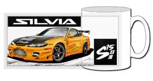 Nissan silvia s15 mug, s13, s14, 200sx, turbo, spec r, spec s, 240sx, drift, jdm
