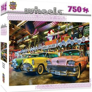 Three Beauties Classic Cars 750 piece jigsaw puzzle  610mm x 460mm  (mpc)
