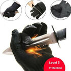 1Pair Black Cut Resistant Stainless Steel Working Safety Gloves Anti-cut Protect