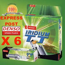 DENSO SPARK PLUG IT20TT X 6 - HOLDEN COMMODORE VY VX VU VT VS VR VP VK