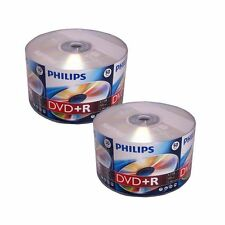 100 PHILIPS Blank DVD+R Plus R Logo Branded 16X 4.7GB 2x50pk Media Disc