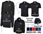 Personalised Embroidered Work Wear Sole Trader Package Poloshirt Fleece inc Vat