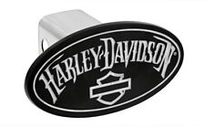Harley-Davidson Hitch Cover With Matte Black Powder Coated Oval Emblem 2' Post