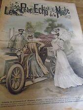 """""""""""ANCIEN LE PETIT ECHO DE LA MODE AVEC PATRON """"BLOUSE TAMBOUR   """"AOUT 1906 N°33"""
