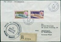 French Polynesia 1970 Sc#261-262,SG112-113 UPU Headquarters set on piece FU