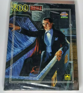 Official Universal Studios Monsters Dracula 200 Piece Puzzle Sealed Golden 1990
