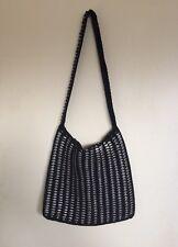 Unusual Handmade Upcycled Crochet Soda Can Tabs/Tops Handbag Black Large