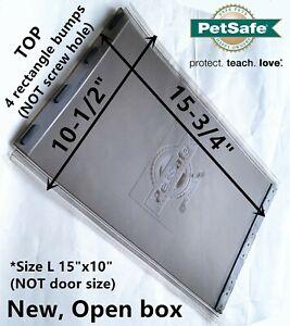 """PetSafe 15X10"""" Door Pet Flap Replacement for Dog Door 4-0113-11 700-416 Magnetic"""