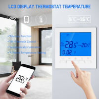 Programmable Wireless Digital Thermostat Temperature LCD Screen Room Heating