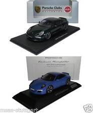 2 x Porsche 911 991 GTS Club Coupe grün und blau Spark 1:43 fabrikneu