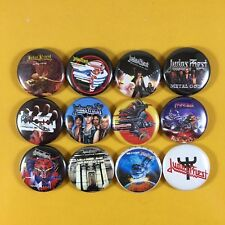 "Judas Priest 1"" Button Pin Set Rob Halford Heavy Metal Painkiller Defenders"