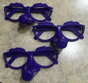 Fibber Board Game Replacement Parts Only Pieces 3 Pairs of Purple Glasses