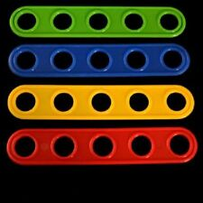 "4-5 Hole Plastic Plank Toy Bases - Bird Toy Parts 5.25"" x 1 x 1/8"""
