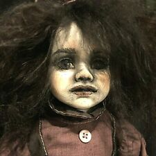 Gothic Girl #26 Ghost Ooak Porcelain Doll Zadie Orphan Haunted Horror g2taylor