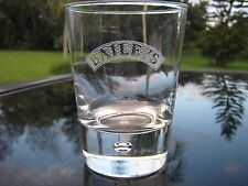 One Baileys Glass With Frosted White Logo Heavy Base With Encased Bubble
