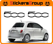 ADESIVI LOGO 500 PER  MINIGONNA  NUOVA  FIAT 500 TUNING NEW