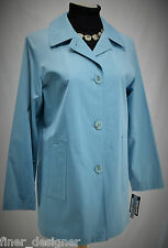 Gallery Blue plaid trench Raincoat coat career jacket Rain preppy S NWT $115 NEW