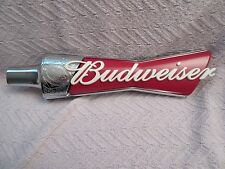 BUDWEISER  BEER KEG TAP HANDLE RED, SILVER - MINT CONDITION - NEW IN BOX