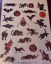 STICKER DECAL SET Halloween BEISTLE DESIGNS Shackman Witch Devil Jack O Lantern
