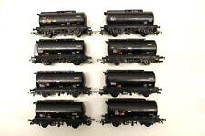 8 x Hornby Black Procor Oil Tanker Wagons OO Gauge BUNDLE JOBLOT V5