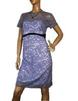 ASOS MATERNITY SIZE 12 BLUE LACE DRESS BNWT