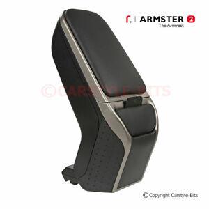 RENAULT CLIO '2013-2019 Armster 2 Armrest - BLACK / GREY [LEFT HAND DRIVE ONLY]
