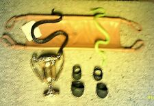 WWF WWE WRESTLING MIX  ACCESSORIES STRETCHER & TROPHY & PADS & SNAKES