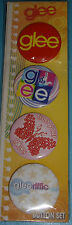 NEW 4 pc  GLEE BUTTONS Pinback Pins Gleeriffic Free Your Glee Button Set
