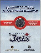 ** 2011 - 2012 Canada NHL Winnipeg Jets Half Dollar 50 Cent Coin Uncirculated **