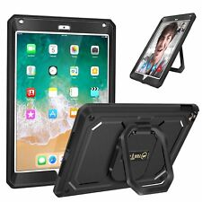 For iPad Air 2 9.7 Inch 2014 360 Rotating Case Cover Built-in Screen Protector