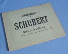 18 Marches pour piano à quatre mains de SCHUBERT / C.F. Peters éditeur