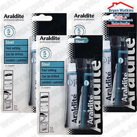 3x Araldite Steel 2 Part Epoxy Resin Specially formulated Metal Repair Quick Dry