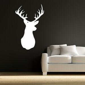 Deer Head Silhouette Wall Sticker Animal Decal Art Mural Vinyl Home Decor