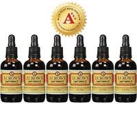 J.CROW'S® Lugol's Solution of Iodine 2% 2 oz Six Pack (6 bottles)