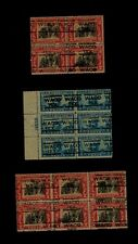 WACO TEX. Local Precancels UNUSED BLOCKS:  PB-6 # 650, Block-6 & Block-10 # 651