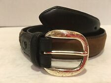 Nocona Men's Concho Studded Genuine Leather Belt N4411202 Size 28 Black & Brown