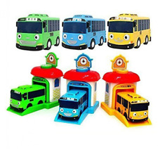 The Little Bus Shooting Car Station Set, Rogi, Tayo, & Rani, Kids Toy Vehicles