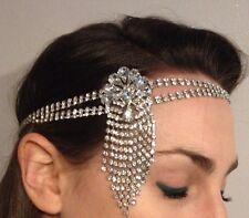 1920s Hairband Art Deco Gatsby Style Crystal Sparkling Diamante Forehead Flapper