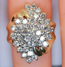 BEAUTIFUL Vintage 10K Yellow Gold 1.6 Ct Diamond Cluster/Cocktail Ring Size 6