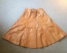 Tan leather  vintage skirt