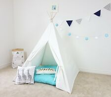 Plain White Kids Teepee | Kid's Princess Tent | Play Fort | Boy Girl Unisex