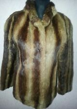 GENUINE REAL FUR JACKET COAT-SIZE 10/12-SOFT & SUMPTIOUS LUXURY!