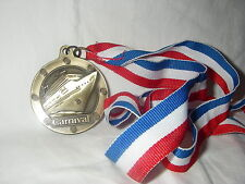 CARNIVAL CRUISE LINES MEDAL SOUVENIR  ON PATRIOTIC  RIBBON NEW