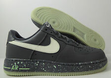 NIKE AIR FORCE 1 GLOW IN THE DARK GREY SZ 12 [488298-019]