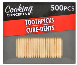 """Pack Of 500 Wooden Toothpicks Round Party Appetizer 2.75"""" Length Wood Teeth Pick"""