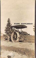 "PORTLAND, OREGON ""STEAM ROLLER TRACTOR-1911"" RPPC REAL PHOTO POSTCARD"