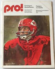 1975 Green Bay Packers vs New York Giants Program Len Dawson Chiefs Cover