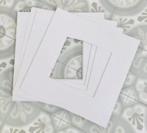 10 IKEA RIBBA 23cm x 23 cm Square Card Mount 4 Small Box Frame Insert (10 items)